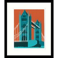 Jennie Ing - Tower Bridge Framed Print & Mount, 64 x 54cm