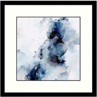 Green Lili - Aura Abstract 2 Framed Print & Mount, Blue, 53.5 x 53.5cm