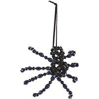 John Lewis & Partners Halloween Bead Spider Hanging Decoration, Black
