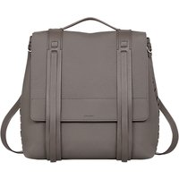 AllSaints Fin Lea Leather Backpack, Whisper Grey