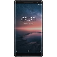 "Nokia 8 Sirocco Smartphone, Android, 5.5"", 4G LTE, SIM Free, 128GB, Black"