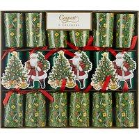 Caspari Lynn Haney Santa Celebration Christmas Rainbow Crackers, Pack of 6, Multi