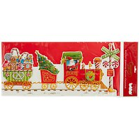 Caspari Santa Express 3D Advent Calendar