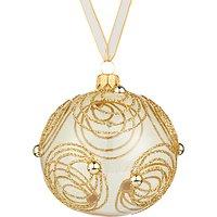 John Lewis & Partners Gold Glitter Swirl Bauble, Gold