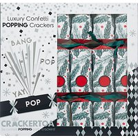 Crackeratoa Pine Needles Luxury Christmas Crackers, Pack of 6, Red