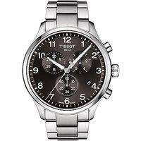 Tissot T1166171105701 Mens Chrono XL Classic Chronograph Date Bracelet Strap Watch, Silver/Black