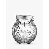Kilner Screw Top Orange Glass Serving Jar, 400ml, Clear