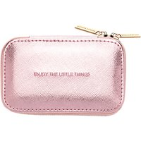 Estella Bartlett Enjoy The Little Things Metallic Zipped Jewellery Box, Pink