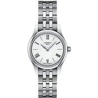 Tissot T0630091101800 Women's Tradition Bracelet Strap Watch, Silver/White