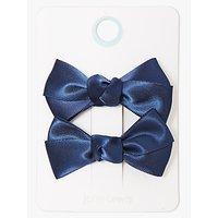 John Lewis & Partners Children's Hair Bows, Pack of 2, Blue