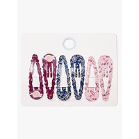 John Lewis & Partners Heirloom Collection Children's Printed Click Clack Clips, Pack of 6, Multi