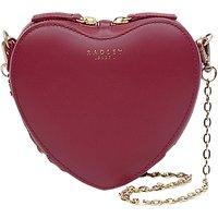 Radley Royal Wedding Love Lane Small Leather Cross Body Bag, Red Claret