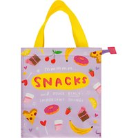 Happy News Mmmm Snacks Insulated Cooler Tote / Snack Bag