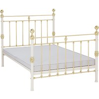 Wrought Iron And Brass Bed Co. George Non-Sprung Bed Frame, Double, Ivory