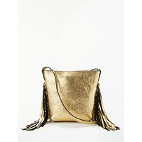 AND/OR Mia Tassel Leather Small Zip Top Cross Body Bag