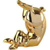 Pols Potten Money Box Playful Bunny, Gold