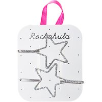 Rockahula Girls' Cut Out Star Hair Slides, Pack of 2, Silver
