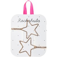 Rockahula Girls' Cut Out Star Hair Slides, Pack of 2, Gold