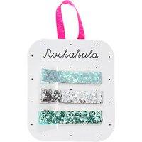 Rockahula Girls' Glitter Bar Hair Clips, Pack of 3, Aqua