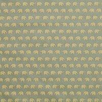 John Louden Elephant Print Fabric, Green