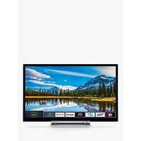Toshiba 24D3863DB LED HD Ready 720p Smart TV/DVD Combi, 24 with Freeview HD & Freeview Play, Black