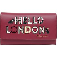 Radley London's Calling Leather Large Flapover Matinee Purse, Red Claret