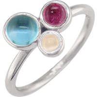 shop for London Road 9ct Gold 3 Stone Bubble Cocktail Ring, M at Shopo