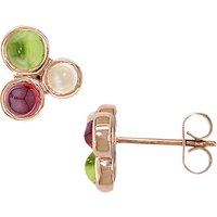 shop for London Road 9ct Gold 3 Stone Bubble Round Stud Earrings at Shopo