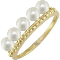 shop for London Road 9ct Gold Pearl Bar Cocktail Ring, Gold at Shopo