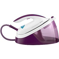 Philips GC6833/36 PerfectCare Compact Essential Steam Generator Iron, Purple