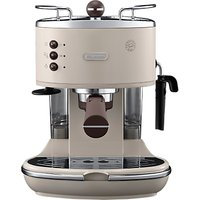 De'Longhi ECOV311.BG Vintage Icona Espresso Coffee Machine, Cream