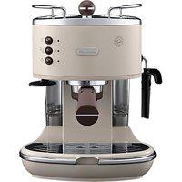 DeLonghi ECOV311.BG Vintage Icona Espresso Coffee Machine, Cream