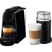 Nespresso Essenza Mini 11377 Coffee Machine by Magimix, Piano Black and Aeroccino 3 Milk Frother