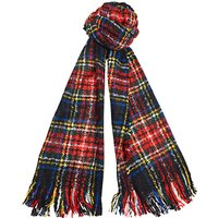Barbour Plaid Boucle Scarf, Red/multi