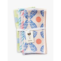Anthropologie Cady Square Cotton Napkins, Assorted, Set of 4