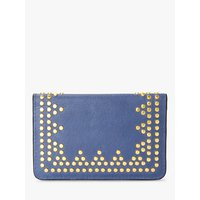 And/or Isabella Leather Card Holder, Blue