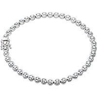 Mogul 9ct White Gold Diamond Tennis Bracelet, 1ct