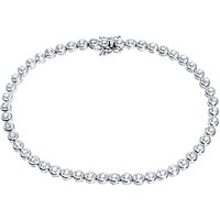 Mogul 9ct White Gold Diamond Tennis Bracelet, 0.50ct