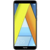 "Honor 7A Smartphone, Android, 5.7"", 4G LTE, SIM Free, 16GB, Black"
