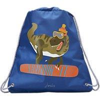 Little Joule Children's Dinosaur Print Drawstring Bag, Blue