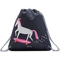 Little Joule Children's Horse Print Drawstring Bag, Navy