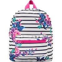 Little Joule Children's Stripe Print Rubber Backpack, Black/White