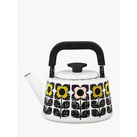 Orla Kiely Square Flower Stovetop Hob Kettle, Yellow/Multi,