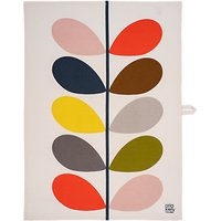 Orla Kiely Stem Print Tea Towels, Set of 2, Grey/Multi
