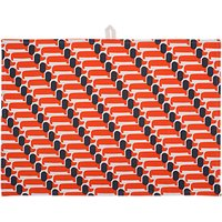 Orla Kiely Dachshund Dog Tea Towels, Set of 2, Persimmon
