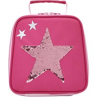 Joules Sequin Star Lunch Bag, Pink