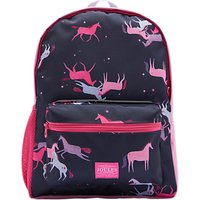 Little Joule Children's Magic Unicorn Print Backpack, Navy/Pink