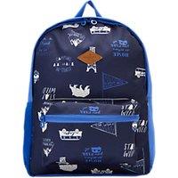 Little Joule Children's Happy Camper Backpack, Navy