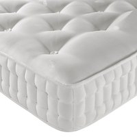 John Lewis & Partners Natural Collection Leckford Linen 5000 Ortho Support, Single, Firm Tension Pocket Spring Mattress