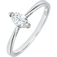 shop for Mogul 9ct White Gold Diamond Marquise Engagement Ring, 0.25ct at Shopo